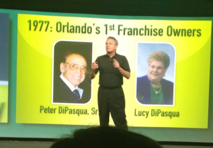 1977 Subway's Founder Fred Deluca talks about Orlando Florida's very 1st Franchisees Peter & Lucy DiPasqua